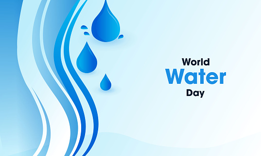 World Water Day - vector waterdrop concept stock illustration
