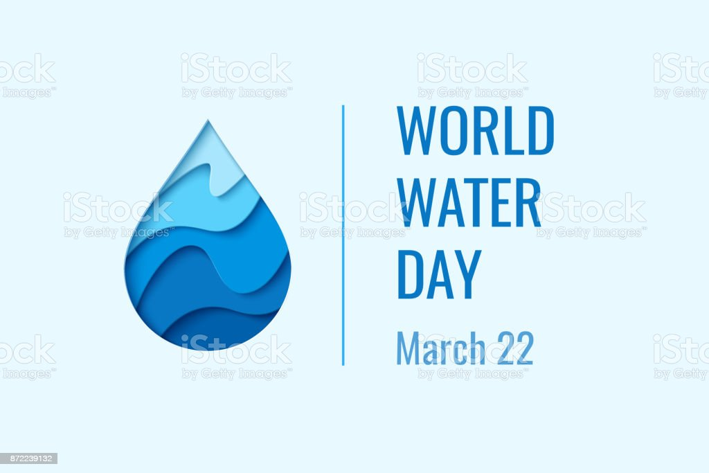 World Water Day - vector waterdrop concept vector art illustration