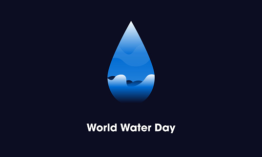 world water day Water Drop logo Design template. stock illustration