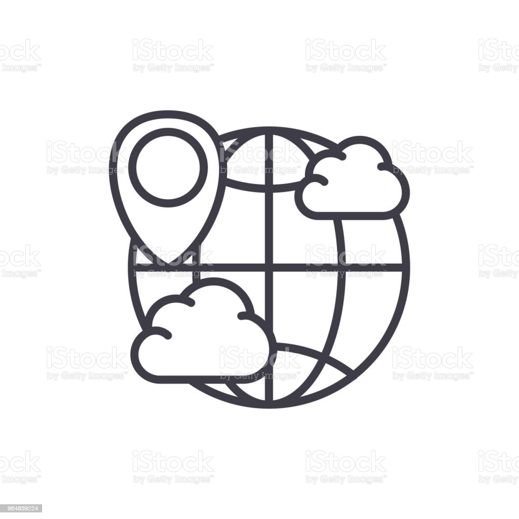 World weather forecast black icon concept. World weather forecast flat  vector symbol, sign, illustration. royalty-free world weather forecast black icon concept world weather forecast flat vector symbol sign illustration stock vector art & more images of adult