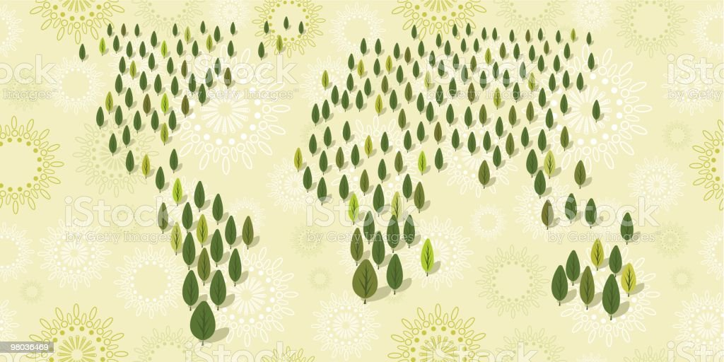 World wide forest royalty-free world wide forest stock vector art & more images of color image