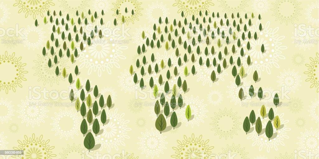 World wide foresta world wide foresta - immagini vettoriali stock e altre immagini di albero royalty-free