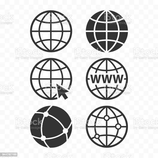 World wide web concept globe icon set planet web symbol set globe vector id944282188?b=1&k=6&m=944282188&s=612x612&h=efgrrmqrnzd writz1embxikpfrd2 uxldm0nsgszjs=