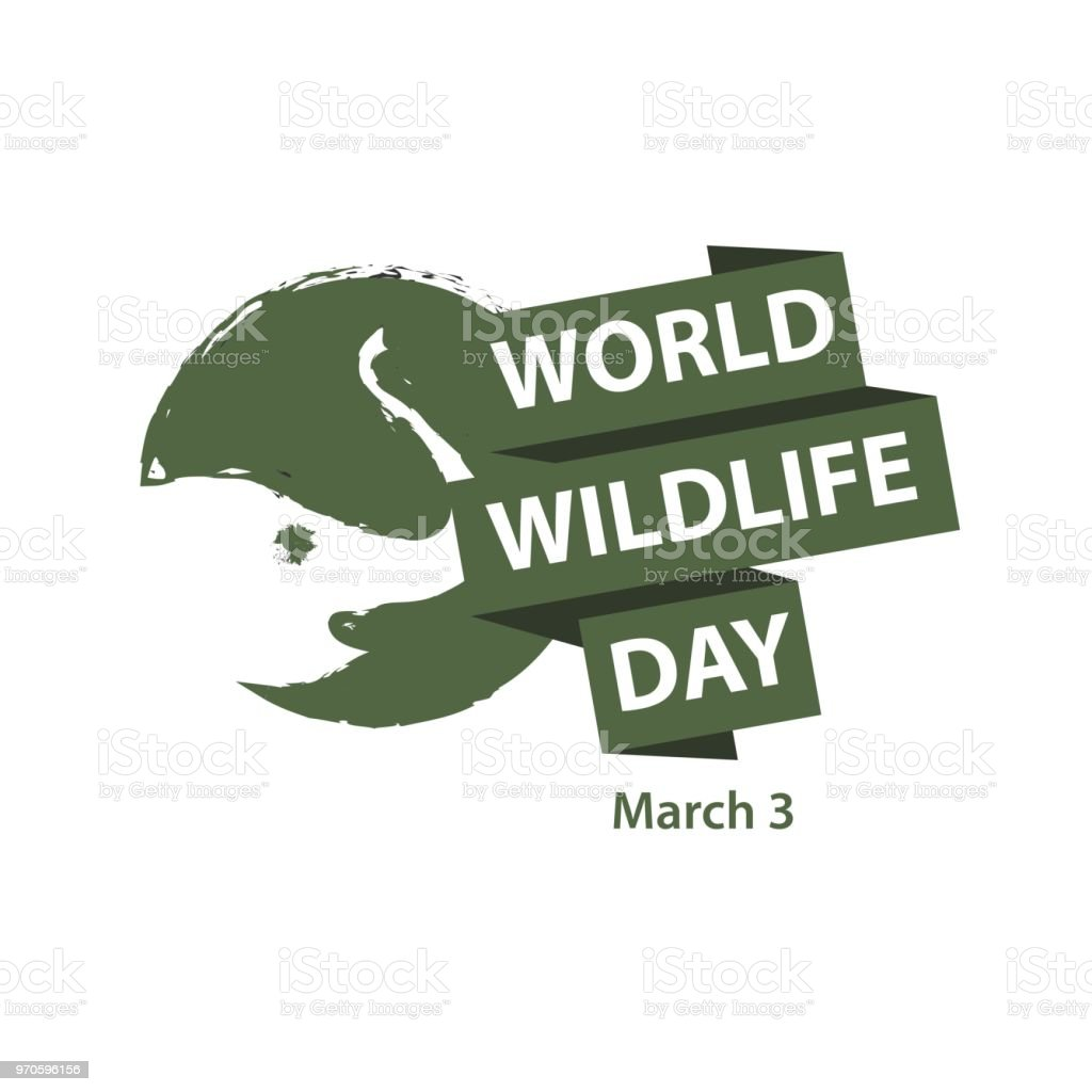 World Wildlife Day Logo Vector Template Design vector art illustration