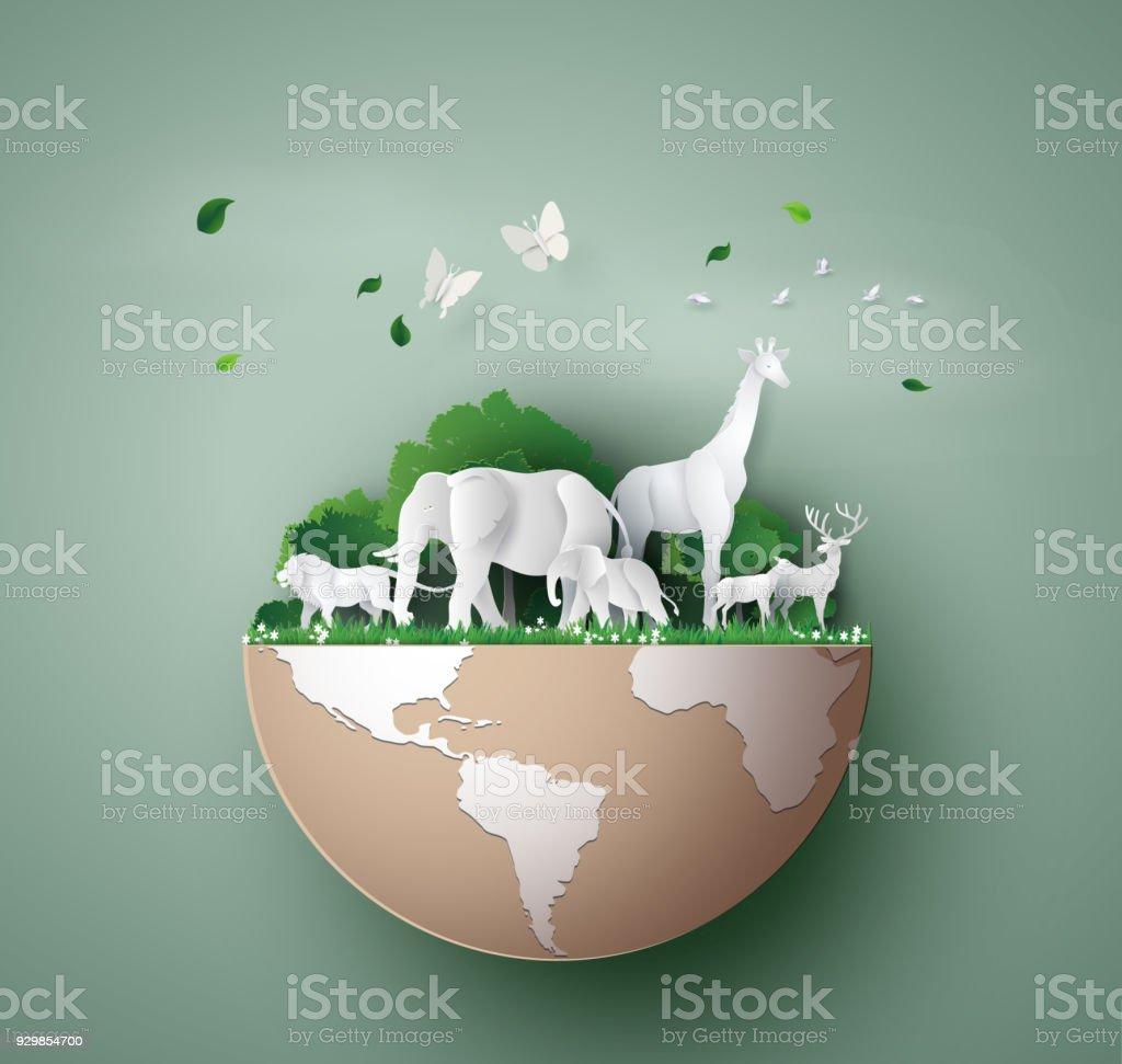Journée mondiale de la faune - Illustration vectorielle