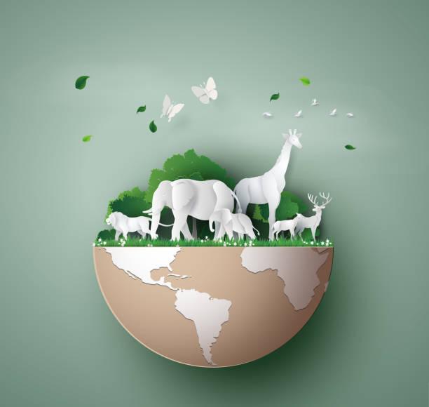 World Wildlife Day vector art illustration