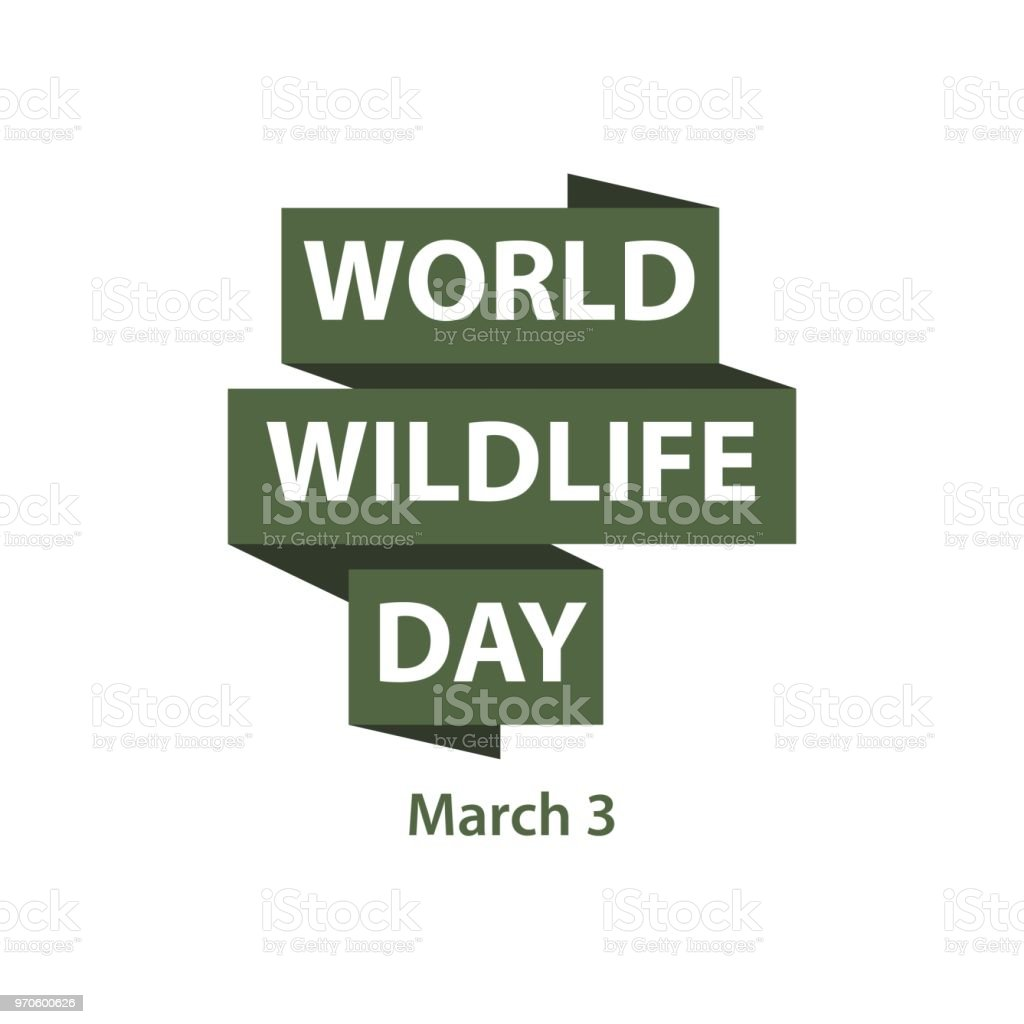 World Wildlife Day Vector Template Design vector art illustration