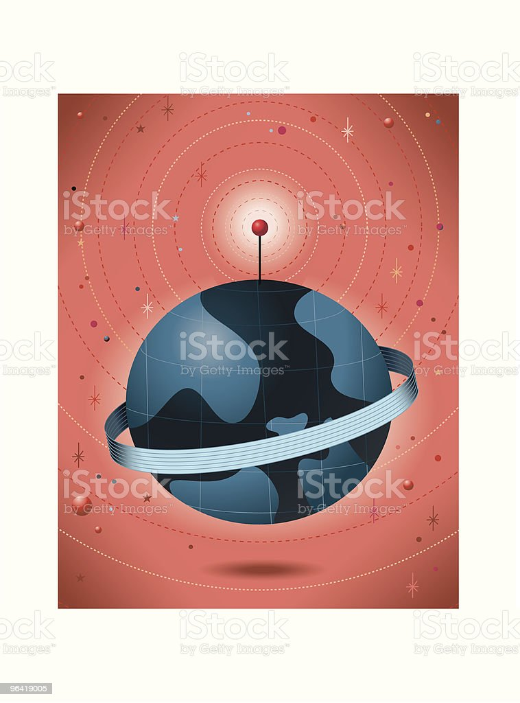 World with Ribbon royalty-free stock vector art