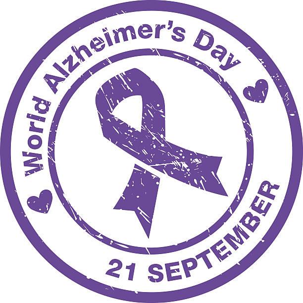 ilustrações de stock, clip art, desenhos animados e ícones de world-alzheimers-day_v1 - alzheimer