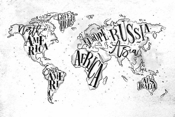 Royalty free world map wall clip art vector images illustrations worldmap vintage paper vector art illustration gumiabroncs