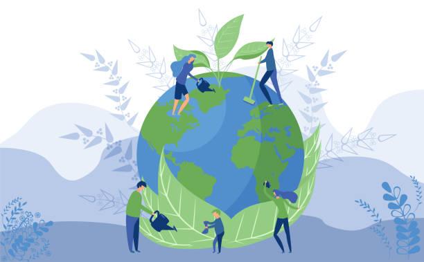 stockillustraties, clipart, cartoons en iconen met worlds environment dag concept - klimaat