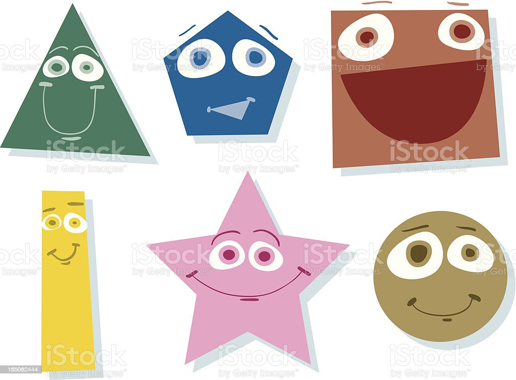 Worlds Happiest Shapes! royalty-free stock vector art