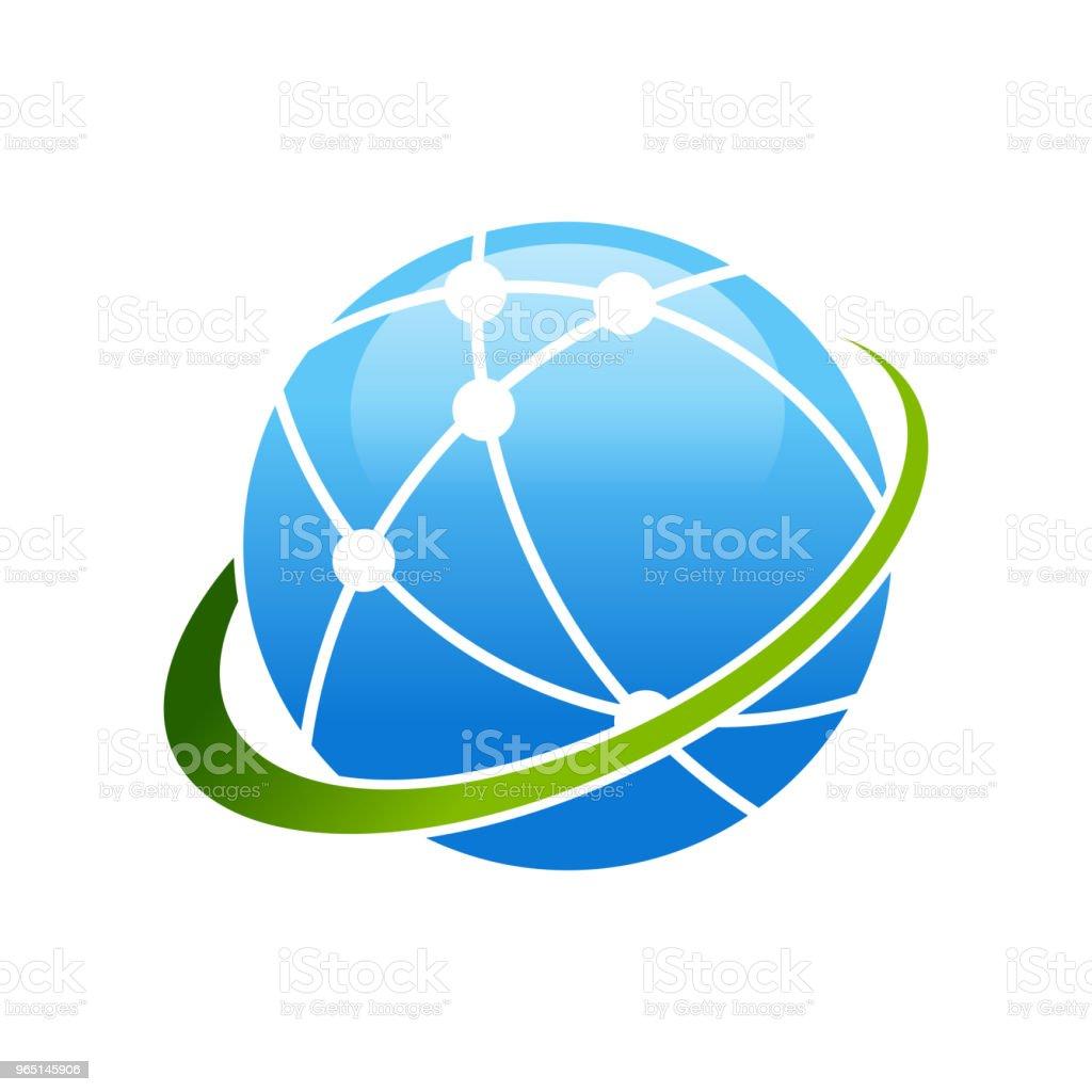 Worldwide Broadband Satellite Swoosh Symbol Design royalty-free worldwide broadband satellite swoosh symbol design stock vector art & more images of 3g
