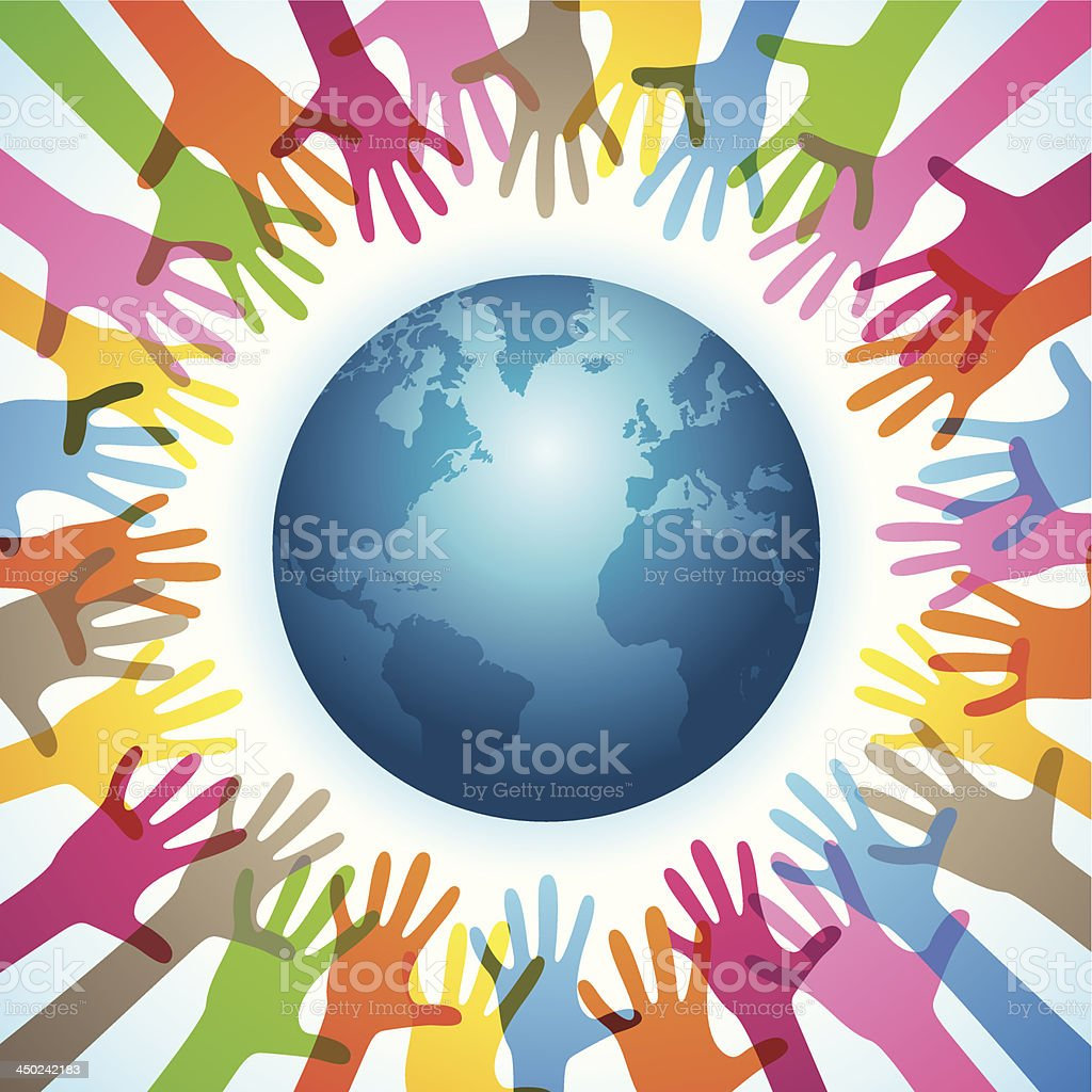 Worldwide Charity Work royalty-free worldwide charity work stock vector art & more images of a helping hand
