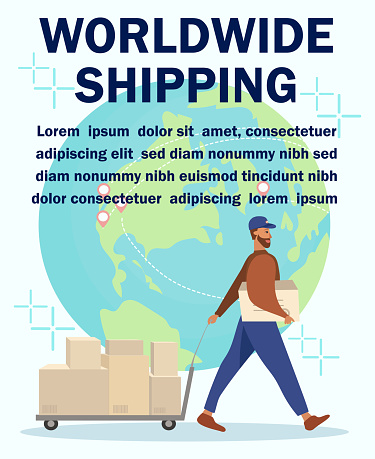 Worldwide Shipping and Courier Delivery Poster