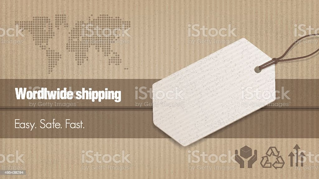 Worldwide shipping banner vector art illustration