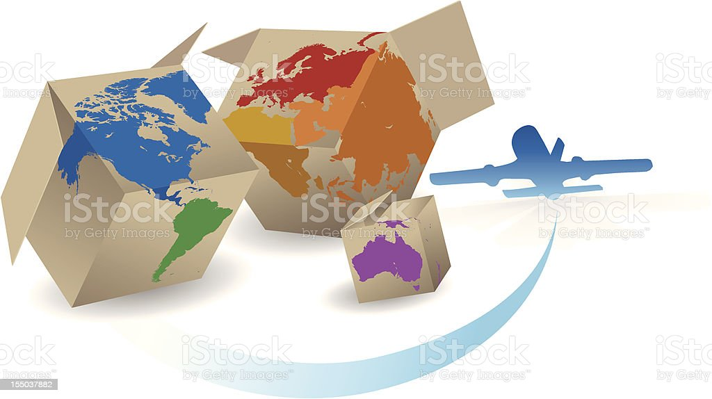 Worldwide Shipping royalty-free stock vector art