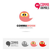 Animal icon and company identity template vector illustration based on comma sign