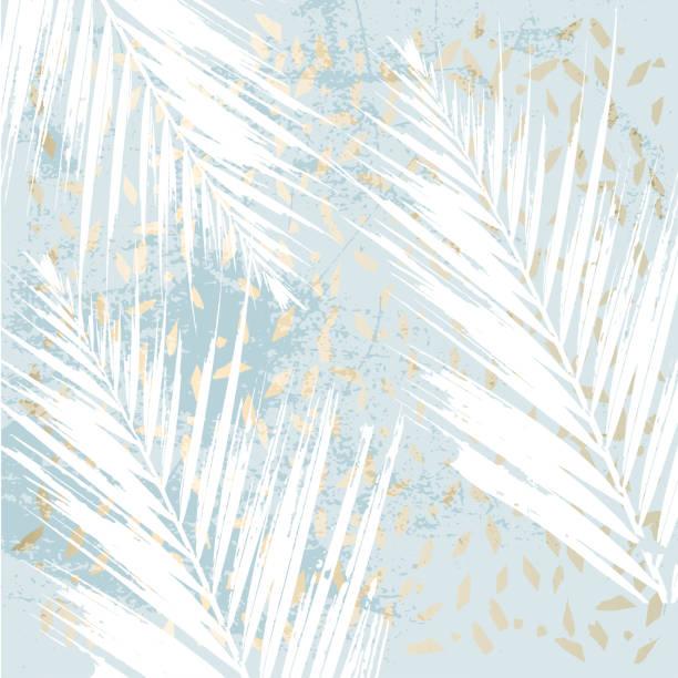 getragen aus marmor palm leaf patina - gartenfolie stock-grafiken, -clipart, -cartoons und -symbole