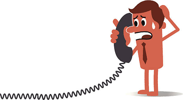 Worried caller Worried caller. switchboard operator vintage stock illustrations