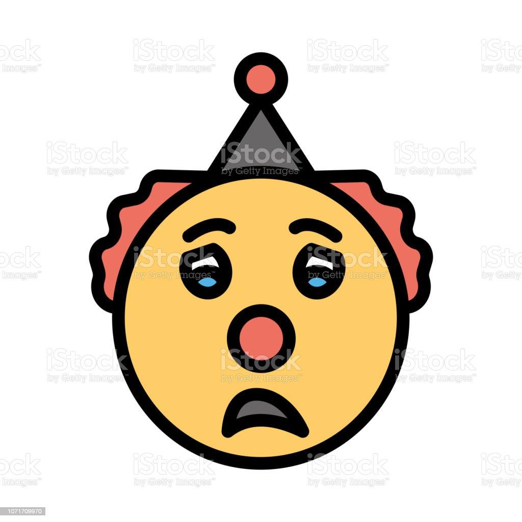 Worried Face Emoji Stock Illustration - Download Image Now