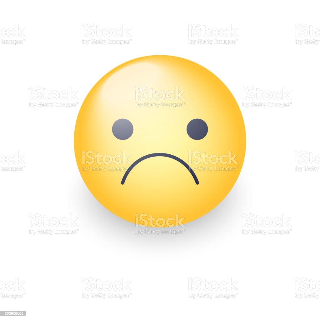 Endişeli Vektör Karikatür Emoji Hayal Kırıklığına Uğramış Sıkıntılı