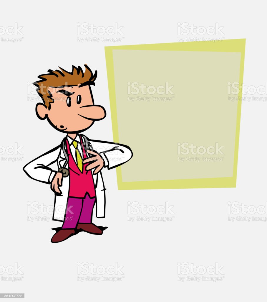 Worried white doctor. Is showing, as in a presentation, the data you want. royalty-free worried white doctor is showing as in a presentation the data you want stock vector art & more images of care
