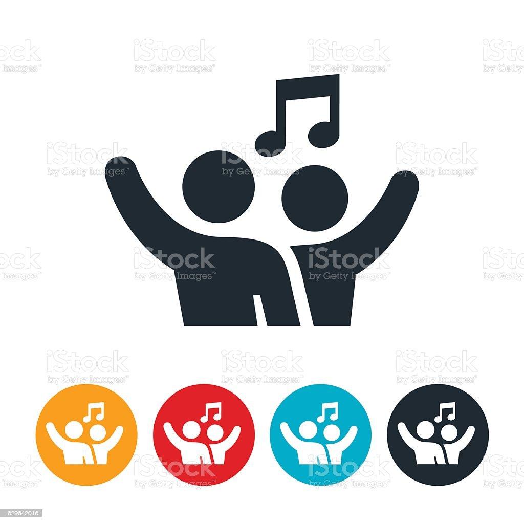 Worship Music Icon vector art illustration