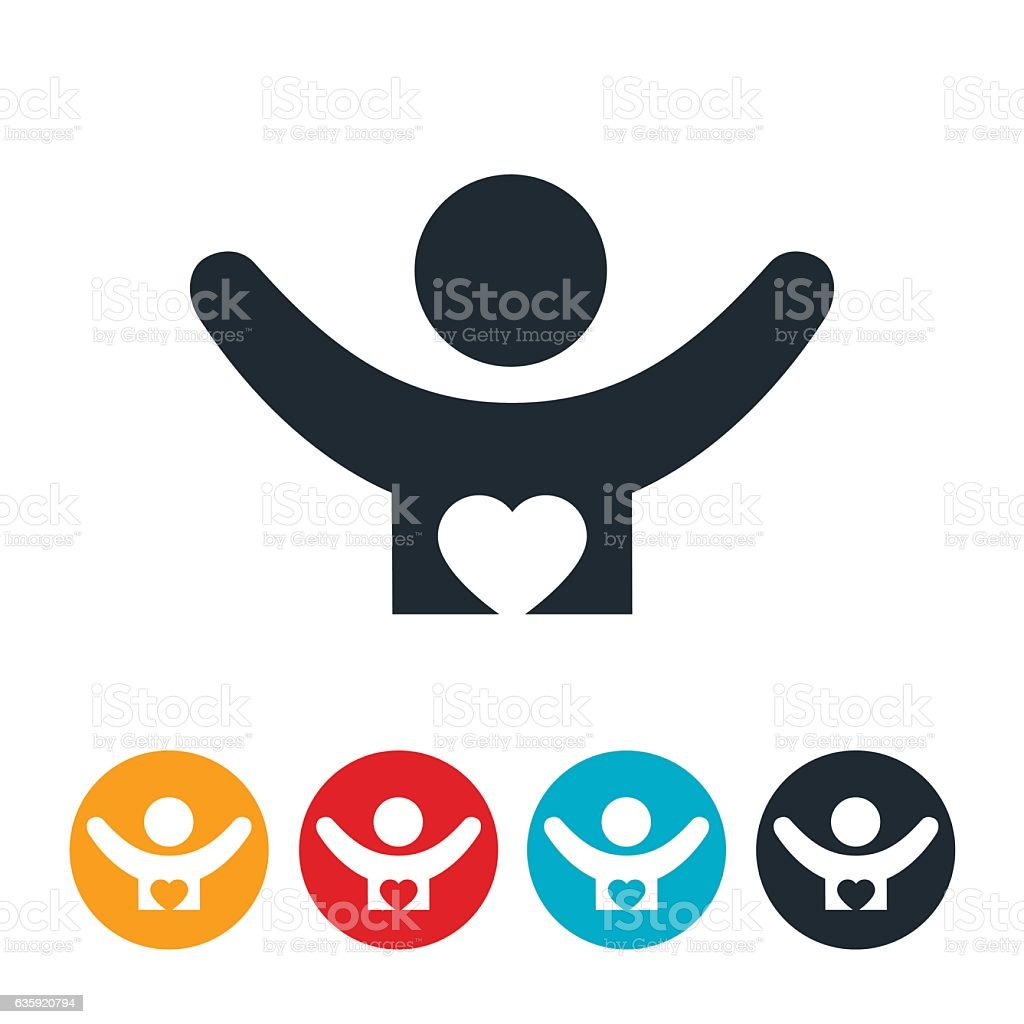 Worshiper Icon vector art illustration