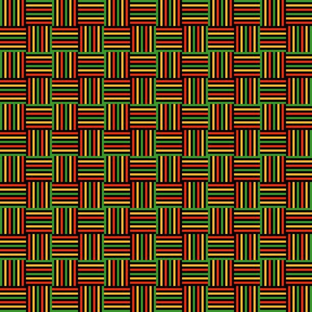 woven fabric seamless pattern - kwanzaa stock illustrations