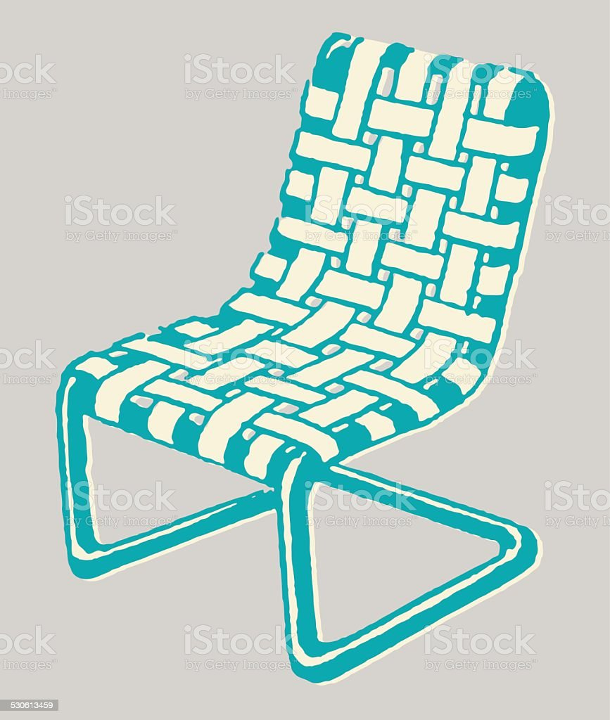Woven Lawn Chair Stock Illustration Download Image Now Istock