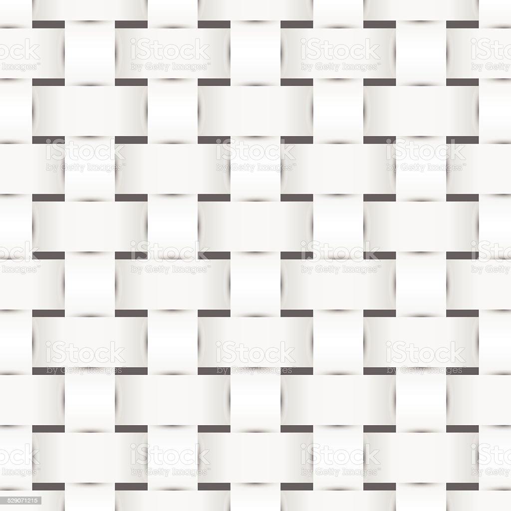 Woven monochrome pattern vector art illustration