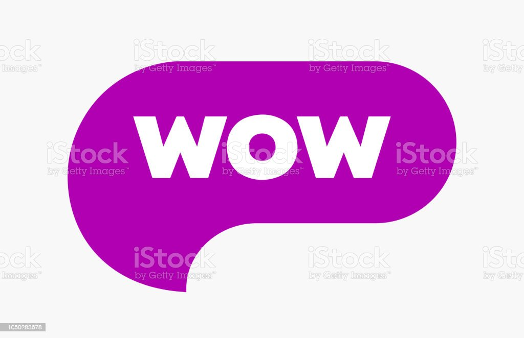 Wow Bubble Word Cool Or Wow Expression Chat Message Or Icon