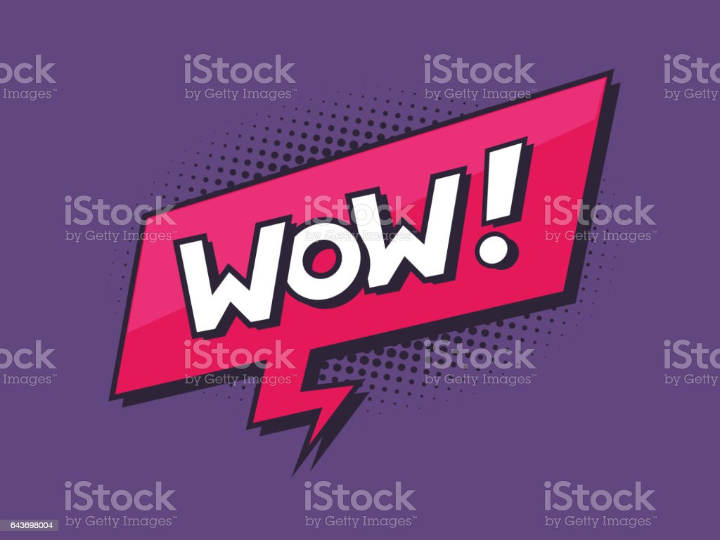 Wow Speech Bubble vector art illustration