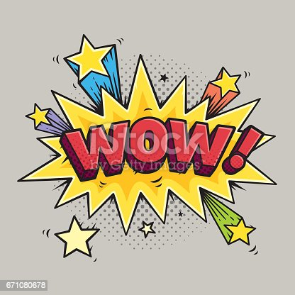 WOW! Vector comic sound effects