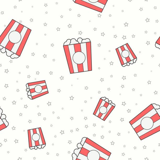 illustrazioni stock, clip art, cartoni animati e icone di tendenza di wrapping paper 181 - christmas movie