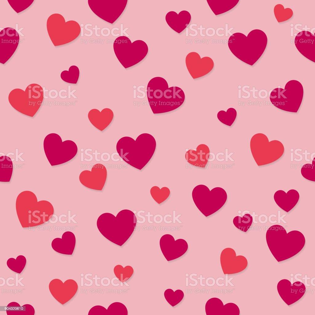 Ilustración De Papel Con Corazones Día De San Valentín Día De La