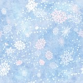 Wrapping Vintage Paper Snowflake Seamless Pattern
