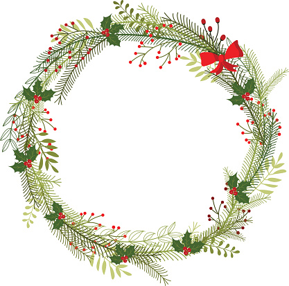 wreath christmas warm empty