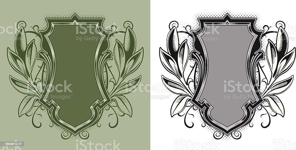wreath crest royalty-free stock vector art