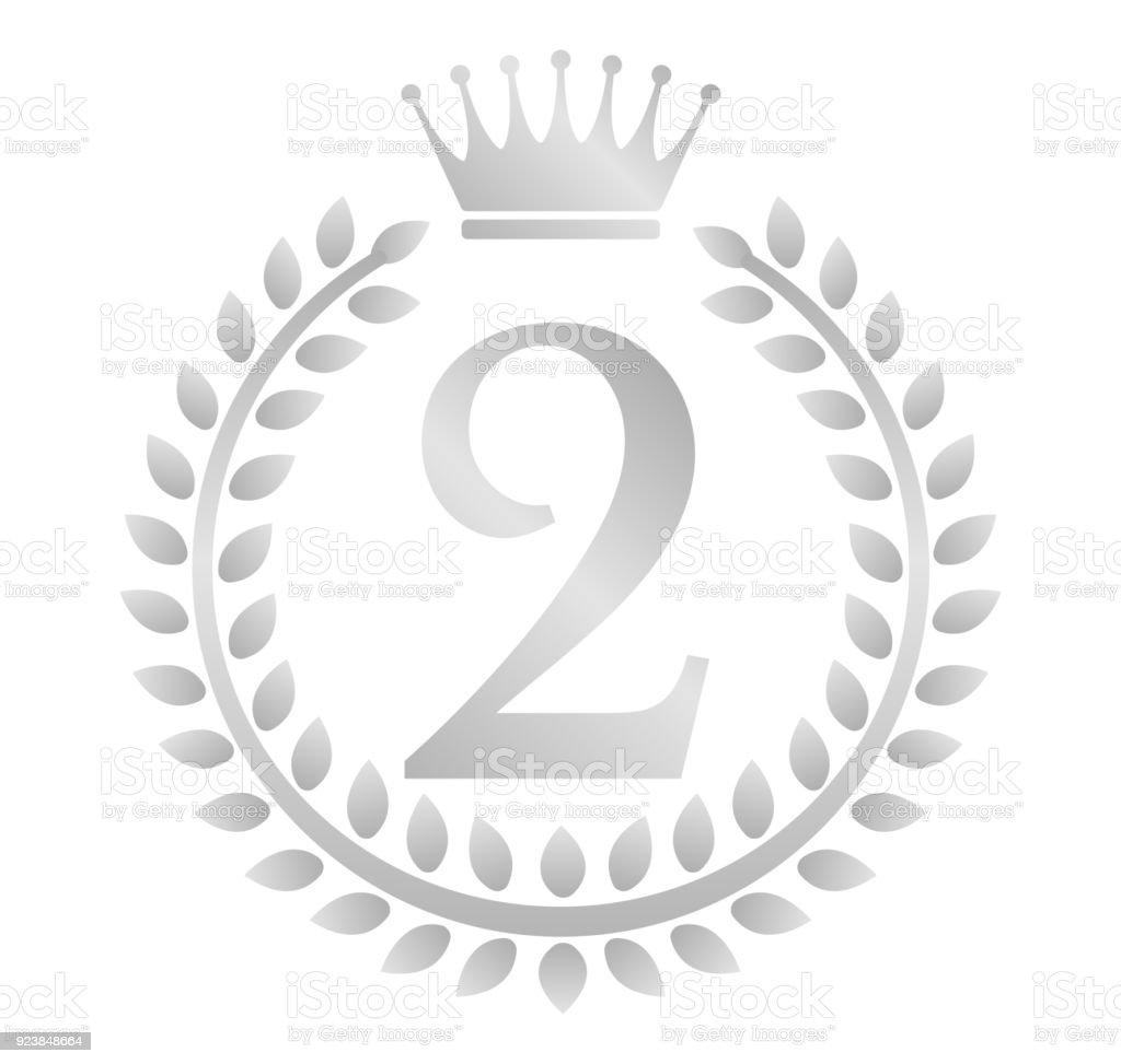 Kranz Rahmen Ranking Abbildung 2 Platz Stock Vektor Art und mehr ...