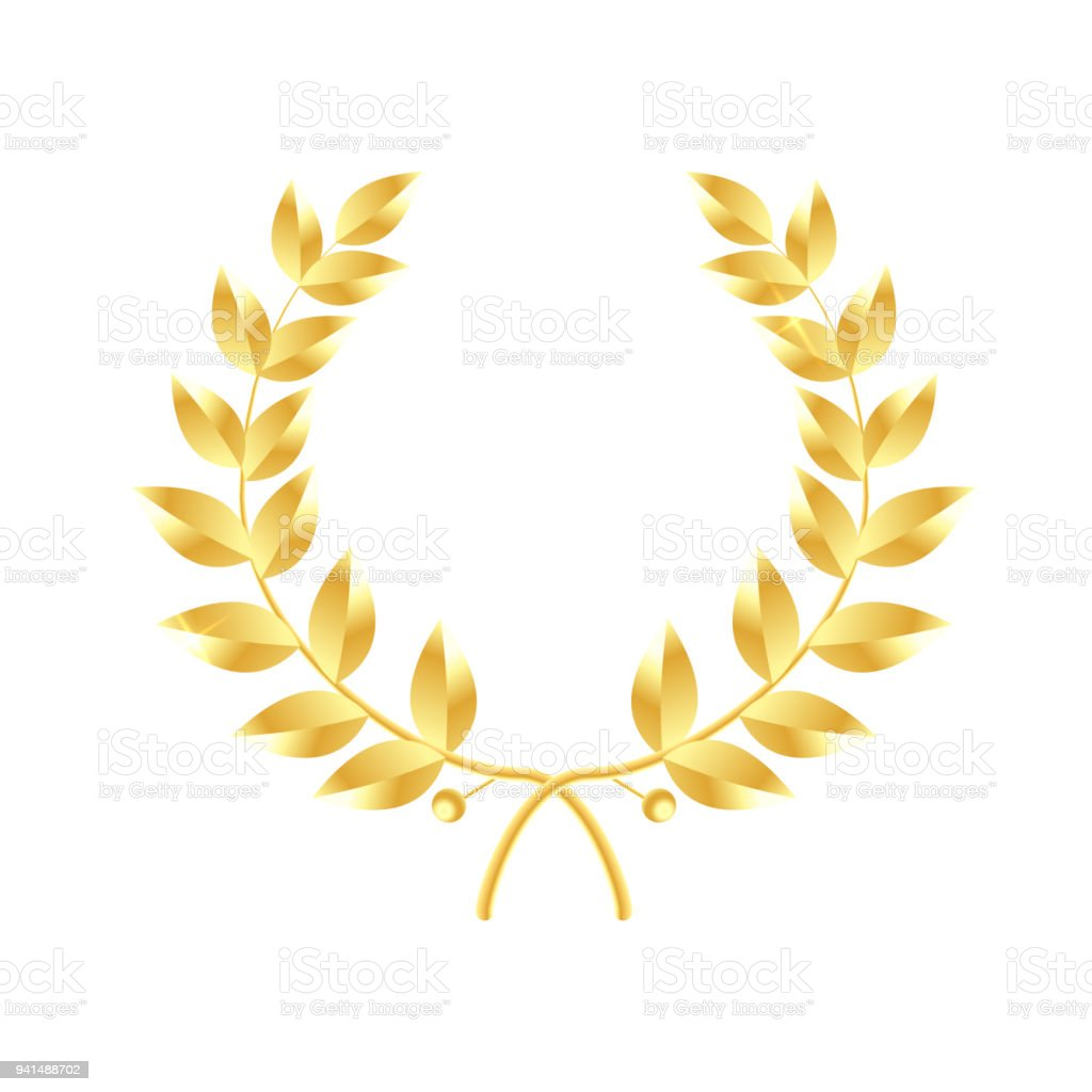 wreath of leaves icon gold laurel wreath symbol of victory and