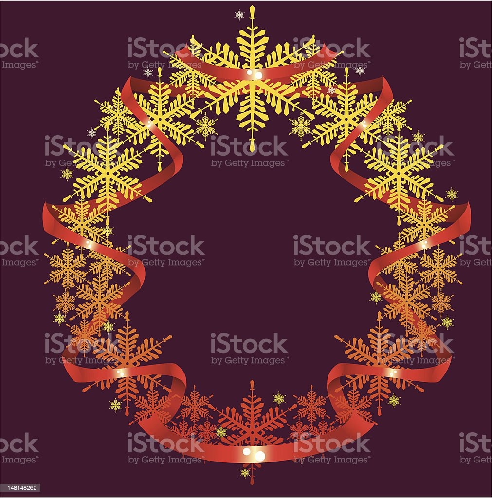Wreath of snowflakes royalty-free wreath of snowflakes stock vector art & more images of celebration