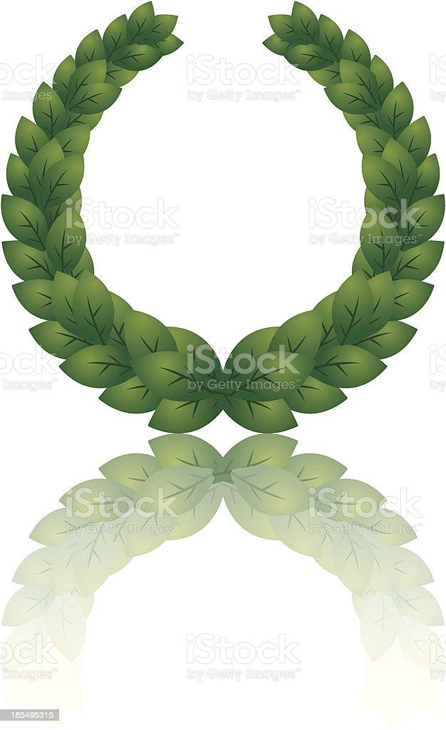 wreath reflect royalty-free stock vector art