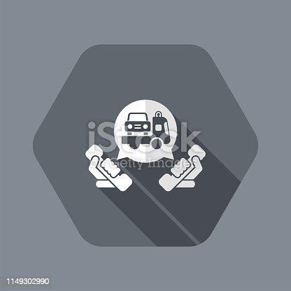 istock Wrecker call icon 1149302990