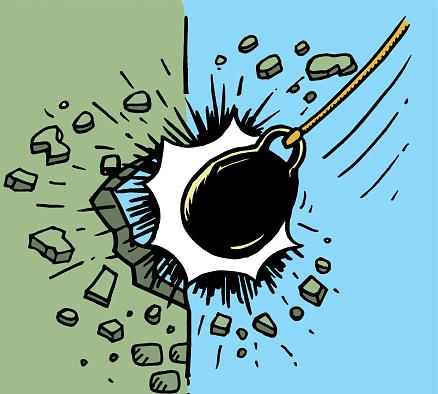 wrecking ball sketch illustration