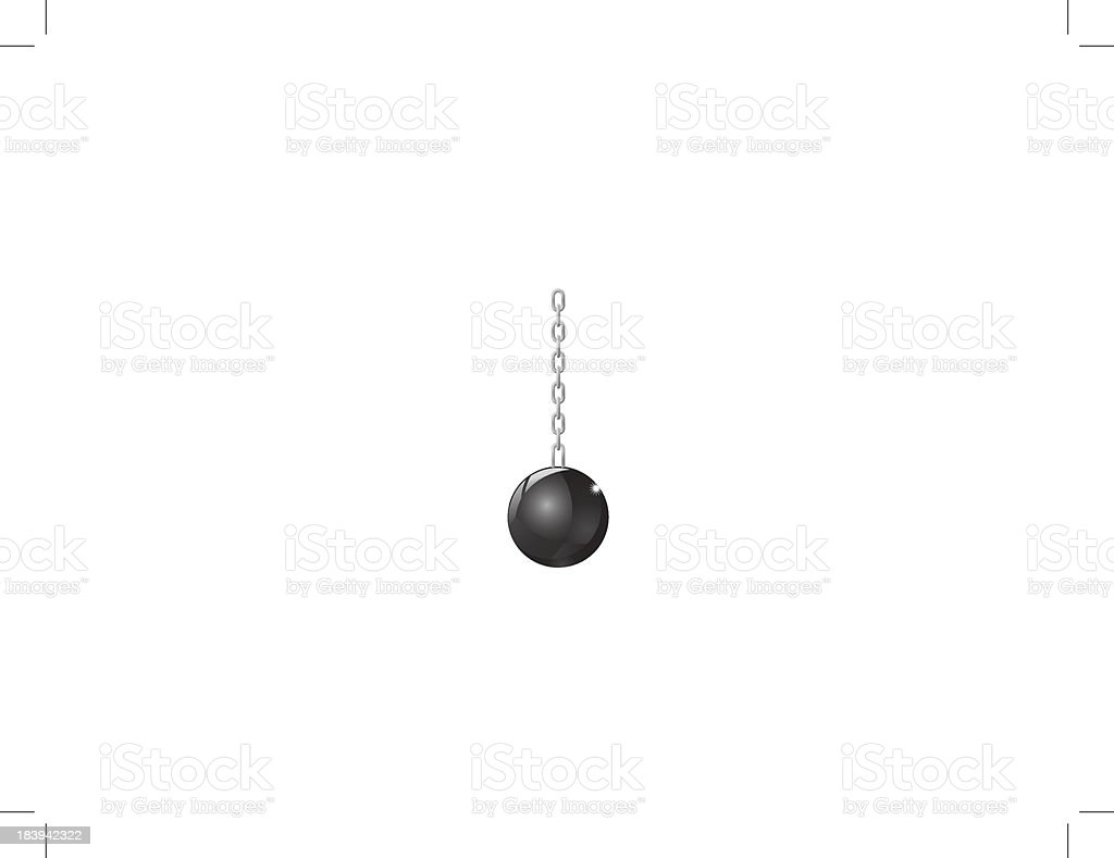 Wrecking Ball vector royalty-free stock vector art