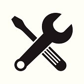 Wrench And Screwdriver Crossed