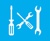 istock Wrench And Screwdriver Settings Icon 1150558253