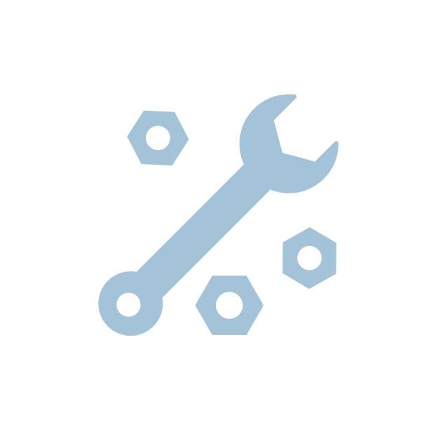 klucz - ikona motoryzacji - klucz stock illustrations